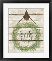 Framed Simply Blessed Wreath