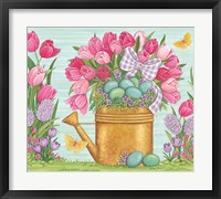 Framed Tulips and Blue Eggs