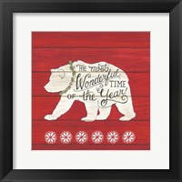 Framed Most Wonderful Time Bear
