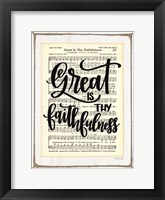 Framed Great is Thy Faithfulness