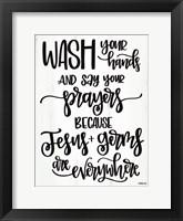 Framed Jesus & Germs