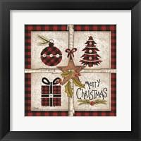 Framed Four Square Merry Christmas