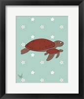 Framed Nautical Turtle 2