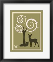 Framed Woodland Deer 1