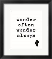 Framed Wander Often