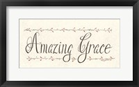 Framed Amazing Grace
