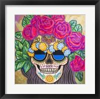 Framed Skull with Roses