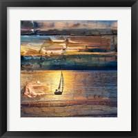 Framed Sunset Sailing 1