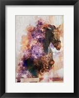 Framed Horse Jumping