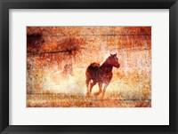 Framed Horses Running Free