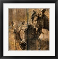 Framed Horses Charcoal