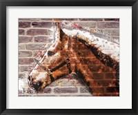 Framed Brick Horse