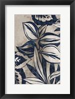 Framed Blue Foliage I