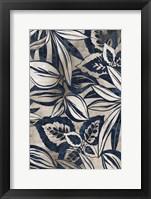 Framed Blue Foliage II