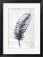 Framed Indigo Feather II
