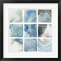 Framed Indigo Squares II