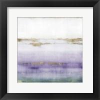 Framed Cerulean Haze I Violet Version