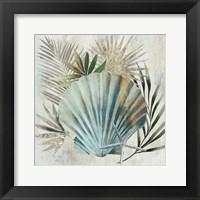 Framed Turquoise Shell I