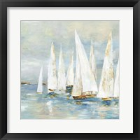 Framed White Sailboats