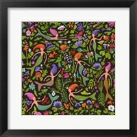 Framed Mermaids in a Floral Sea