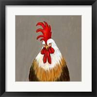 Framed Rooster Doodle Do