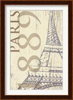 Framed SS - Paris 1889 In Beige