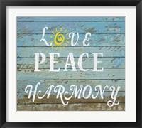 Framed Love Peace Harmony
