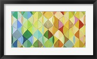 Framed multicolored Leaves I