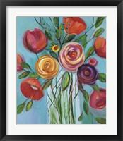 Framed Jubilant Bouquet IV