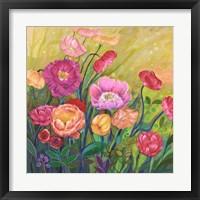 Framed Flower Field I