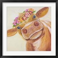 Framed Zen Cow