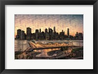 Framed Lower Manhattan at Twilight