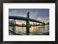 Framed Manhattan Bridge & Skyline A