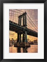 Framed Manhattan Bridge & Skyline B