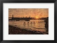 Framed East River Sunset