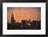 Framed Empire State Building at Twilight
