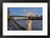 Framed Sunset Behind Queensboro A
