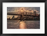 Framed Sunset Behind Queensboro C