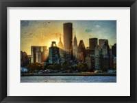 Framed Mid-Manhattan Sunset A