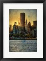 Framed Mid-Manhattan Sunset B