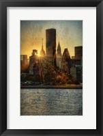 Framed Mid-Manhattan Sunset C