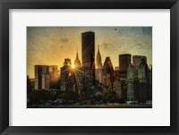 Framed Mid-Manhattan Sunset D