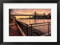 Framed Queensboro at Twilight A
