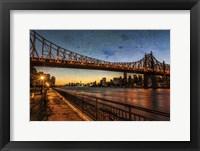 Framed Queensboro at Twilight C