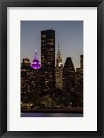 Framed Mid-Manhattan Twilight B