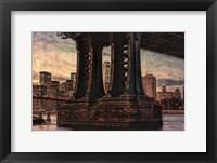 Framed Base of Manhattan Bridge