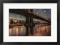 Framed NYC Bridges at Twilight