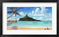 Framed Bora Bora Sun