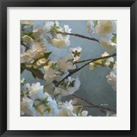 Framed Silver Light Florals 1