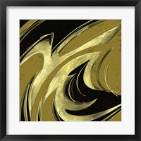 Framed Abstract Black & Gold 2